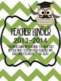 OWL Teacher Binder- EDITABLE pages!