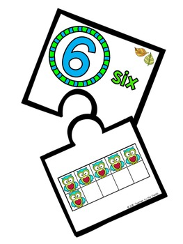 OWL Math Ten Frame Number Posters and Puzzles, 0 - 20