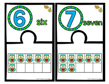 OWL Math Ten Frame Number Puzzles, 0 – 10