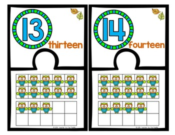 OWL Math Ten Frame Number Puzzles, 11 – 20