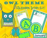 OWL Theme Classroom Decor Kit