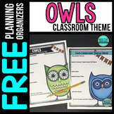 OWL Theme Decor Planner by Clutter Free Classroom