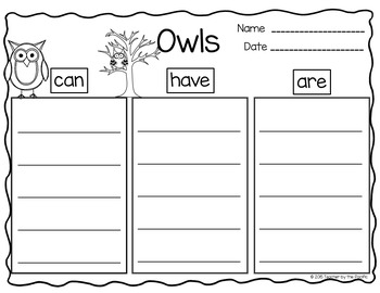 OWL WRITING - KWL - Idea Webs - Tree Maps - Opinion - Word Search