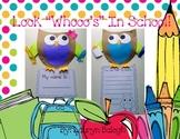 OWL back to school craft