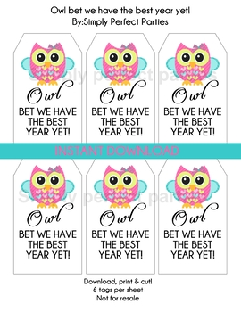 OWL bet we have the best year yet! Printable tags