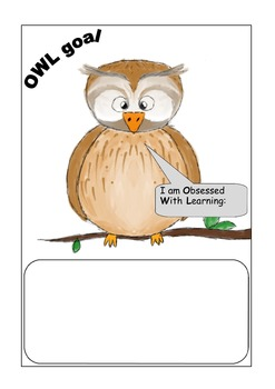 OWL learning goal chart bundle