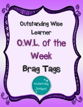 OWL of the Week Brag Tags