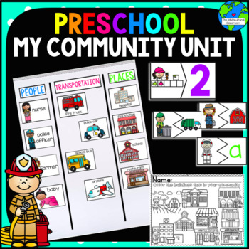 OWL series Preschool Unit 3 Packet Our community