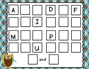 OWL themed RTI for Letters and Sounds BUNDLE