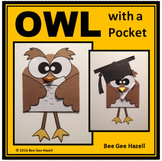 OWL with a POCKET  (Color Cut Paste craft)