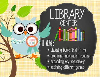 OWLS - Classroom Decor: Center Signs, student cards