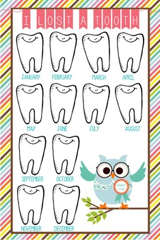 OWLS - Classroom Decor: I lost a TOOTH - size 24 x 36