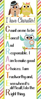 OWLS - Classroom Decor: LARGE BANNER, CHARACTER