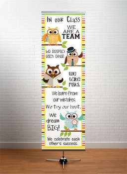 OWLS - Classroom Decor: X-LARGE BANNER, In Our Class...
