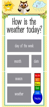 OWLS - Classroom Weather Chart