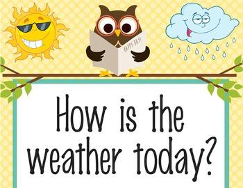 OWLS - Classroom Weather Chart