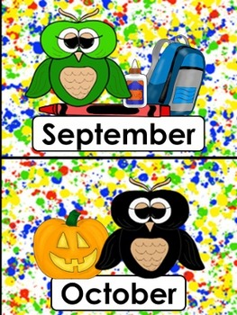 OWLS: Colors, Days of Week, Months of the Year