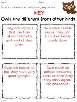 OWLS: Common Core Nonfiction Unit for Grades 3-4