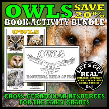Image of: Horned Owl Nocturnal Animals Owls Bookactivity Bundle Teachers Pay Teachers Nocturnal Animals Owls Bookactivity Bundle By Lets Get Real Tpt