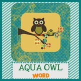 OWLS IN AQUA theme - Newsletter Template WORD