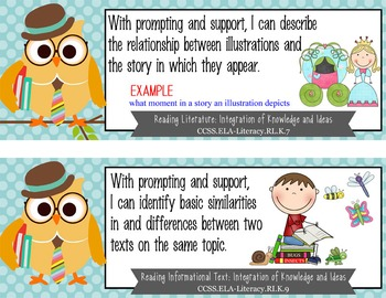 "OWLS - Kindergarten Common Core Standards ""I CAN"" format / posters"