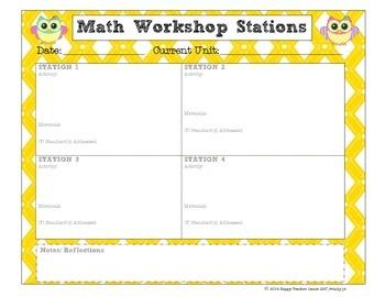 OWLS Math Workshop Planner {Stations/ Centers}