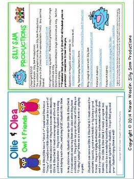 OWLS! Ollie & Olea ACADEMIC AWARDS Pack