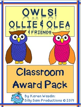 OWLS! Ollie & Olea CLASSROOM AWARDS Pack