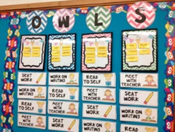 OWLS Reading board freebie