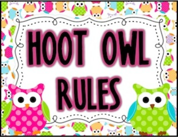 OWLS {Rules Posters}