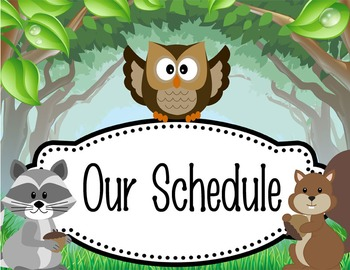 OWLS - Schedule Cards / editable MS WORD / Illustrated