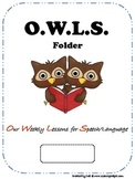 O.W.L.S. Speech/Language Folders