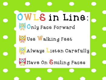 OWLS in Line Poster