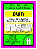 OWN - Word Fluency Book & Emotion Bingo - Sight Word Focus