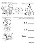 OX FAMILY WORDS - fox, box, ox