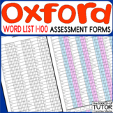 {OXFORD Word list} {Oxford Words assessment} {OXFORD words activities}
