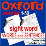 OXFORD sight word practice 50 WORKSHEETS Australian words