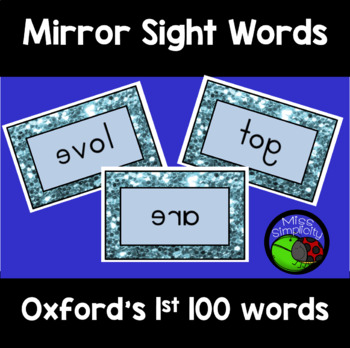 OXFORD WORD LIST sight words MIRROR mirrored WORDS 100 cards