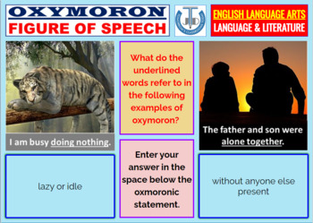 Oxymoron lists