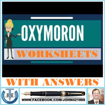 OXYMORON WORKSHEETS WITH ANSWERS