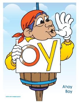 OY (Ahoy Boy) Word Buddy Poster