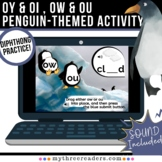OY & OI , OW & OU Penguin themed Boom Activity for Diphtho