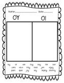OY OI words worksheet