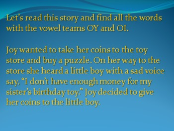 OY and OI Vowel Teams PowerPoint