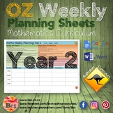 Australian Maths Weekly Planning Sheets - Year 2.