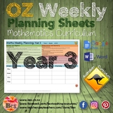 Australian Maths Weekly Planning Sheets - Year 3