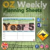 Australian Maths Weekly Planning Sheets - Year 5