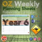 Australian Maths Weekly Planning Sheets - Year 6