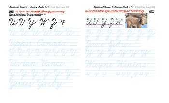 OZ1 Cursive introducing letters