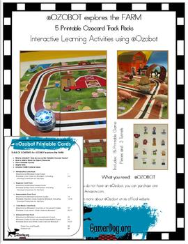 OZOBOT explores the FARM Ozocard Track Pack